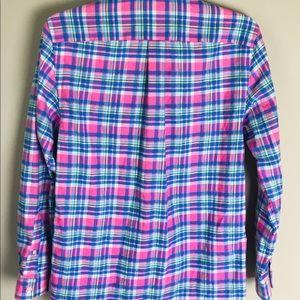 Vineyard Vines Shirts & Tops - Vineyard Vines Pink Plaid Long Sleeve Boy Large 16